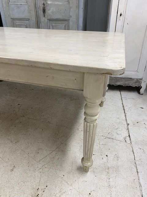 Large Painted French Pine Table  - fd174